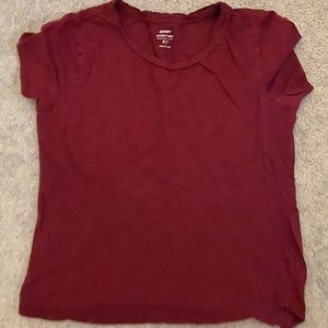 Old Navy Basic Tee in Red